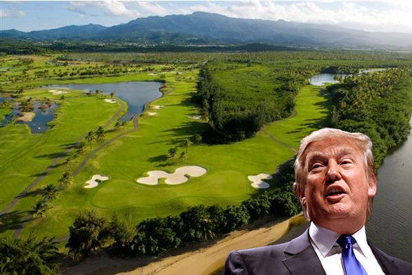 Trump International Golf Club in Puerto Rico and Donald Trump (Credit: Gage Skidmore)