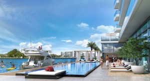 The tower's pool area, which will front the Intracoastal Waterway