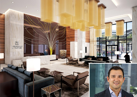 Rendering of Aventura ParkSquare Signature and Victor Ballestas, principal of Integra