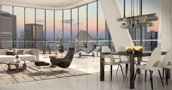 Brickell Heights penthouse interior