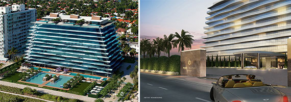 Renderings of Fendi Chateau in Surfside (Construction photos were not available)