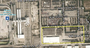 Industrial site west of Miami International Airport