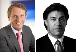 Jeremy Helsby, Savills chief executive, and Edgardo Defortuna
