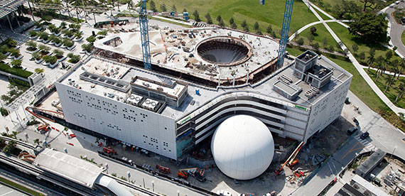 Construction of the Frost Museum of Science in August 2015