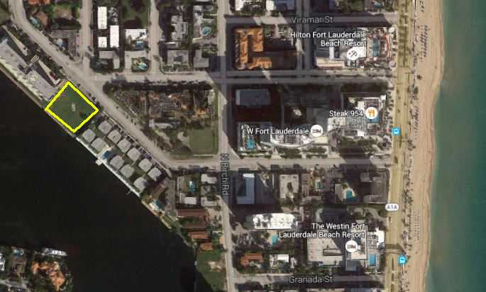 Vacant lot at Riomar Street and Bayshore Drive in Fort Lauderdale