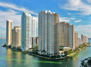 A 2010 photo of Brickell Key from its northwestern side (Credit: Marc Averette)