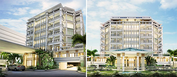 Renderings of the 3200 South Ocean condo project in Highland Beach