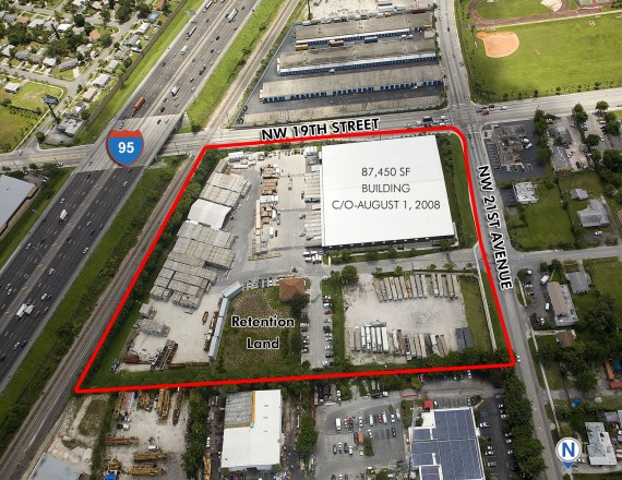 The industrial property at 1900 Northwest 21st Avenue in Fort Lauderdale