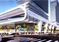 Rendering of Brightline station in Miami