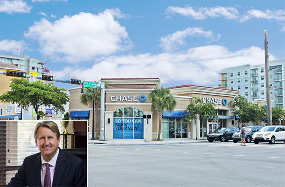 Chase Bank at Gables Entrance and Michael Fay of Avison Young
