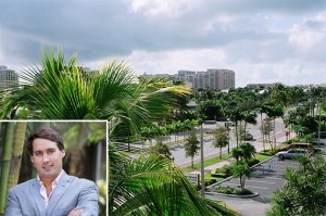 Eric Soulavy and the view from the Key Biscayne Office Centre