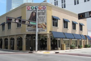 Moishe Mana recently paid $6.8 million for the Metro Beauty building at Flagler Street and Miami Avenue in downtown Miami . (Photo credit: Marcus & Millichap)