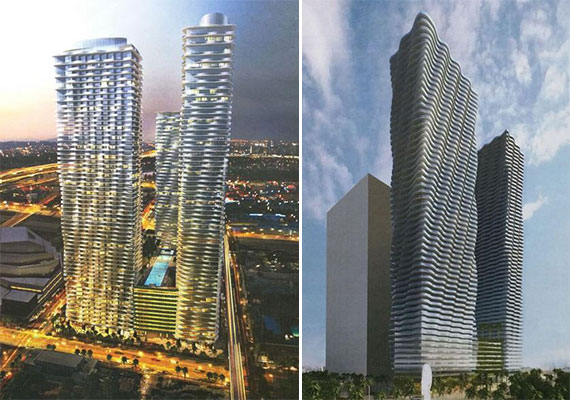 Renderings of Related's Icon Biscayne project (Credit: The Next Miami)