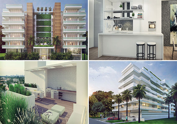 Renderings of the Le Jardin Residences (top) and Pearl House (bottom)