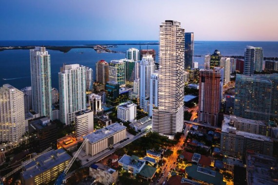 A rendering of CMC Group's Brickell Flatiron project