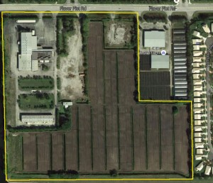 The 33-acre development site at 5300 Flavor Pict Road in unincorporated Palm Beach County
