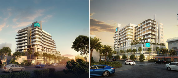 Renderings of the planned 175-room AC Hotel in Fort Lauderdale Beach