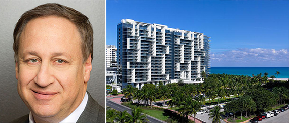 From left: Starwood's Adam Aron and the W Hotel South Beach