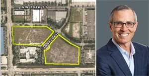 Development site in Doral, and Ram CEO Casey Cummings