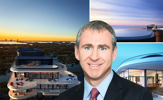 Renderings of the Faena House penthouse and Kenneth Griffin