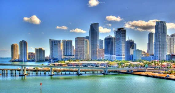 A 2009 photo of Miami's skyline (Credit: Nigel Morris)