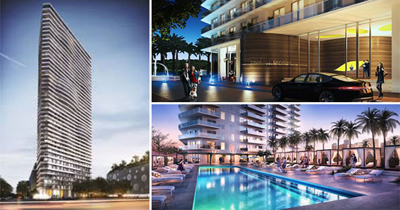 Renderings of Paraiso Bayviews, one part of the four-tower Paraiso project in Edgewater