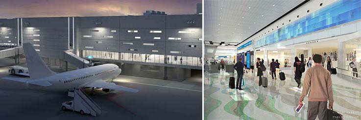 Renderings of the Fort Lauderdale Hollywood International Airport