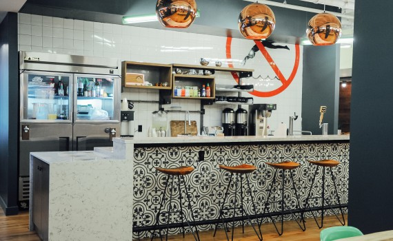 WeWork Miami Beach kitchen