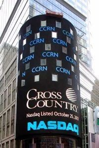 NASDAQ-listed Cross Country trades under ticker symbol CCRN.
