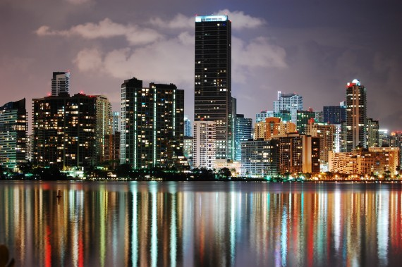 A 2008 photo of downtown Miami's skyline (Credit: Wyn Van Devanter)