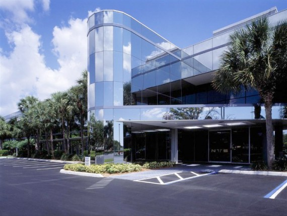 One of the four office buildings in Fort Lauderdale's Lakeshore Business Center