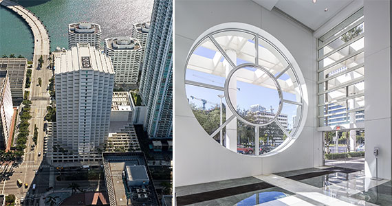 The 801 Brickell office tower and Douglas Elliman's new showroom