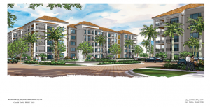 Rendering of the Residences at Broken Sound residential complex