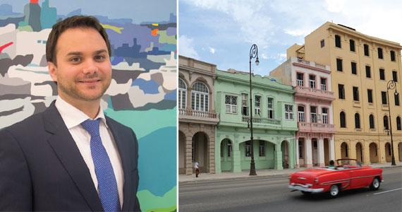 James Gueits and Cuba's oceanfront Malecon Drive