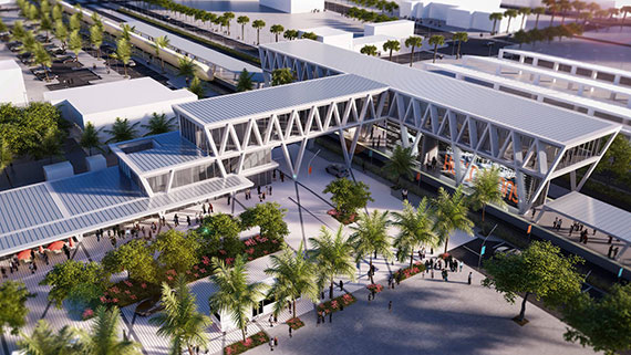 One million square feet of office and retail space will be ushered in with MiamiCentral station.