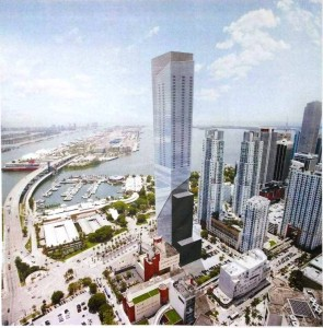 Rendering of the World Trade Center of the Americas. (Source: Arquitectonica)