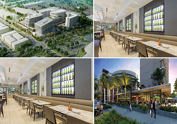 Renderings of Aventura ParkSquare and photos of D'Angelo's