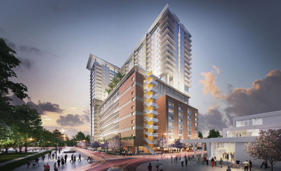Florida East Coast's West Palm Beach station will be home to 275 rental units.