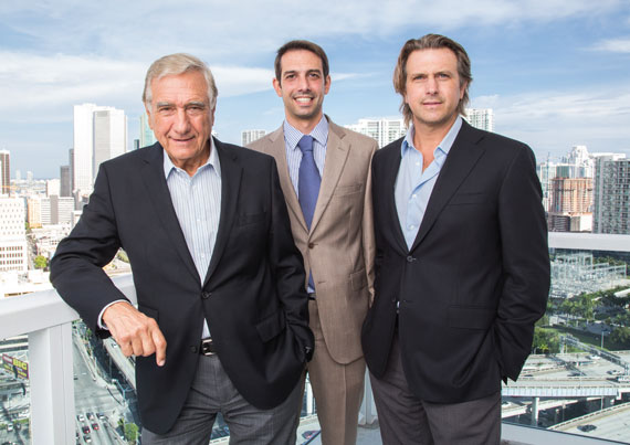 Jose Luis Melo took a gamble on real estate with his sons Martin, center, and Carlos, right.