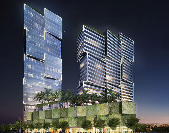 Rendering of Jeff Greene's One West Palm project in West Palm Beach