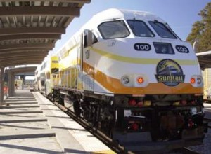 The SunRail line extends 61.5 miles from Orlando to its northern suburbs.