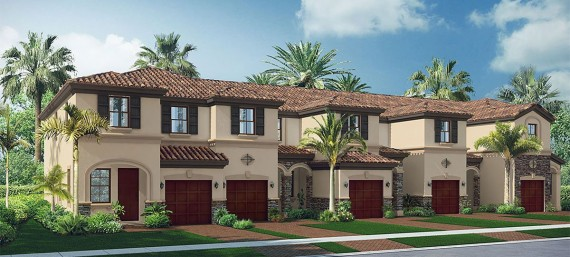 A rendering of the Bonterra townhomes in Hialeah