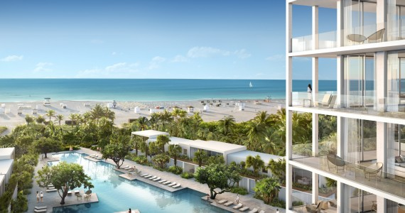 Fasano Hotel + Residences at Shore Club - northeast balcony rendering by Visualhouse