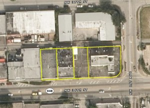 The four Wynwood properties outlined