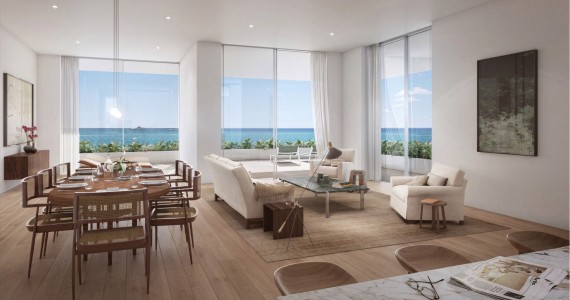 Fasano Hotel + Residences at Shore Club - full floor rendering by Visualhouse