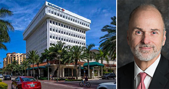 The Bank of America Tower in Boca Raton and Jeff Johnson, CEO of the Dividend Capital Diversified Property Fund