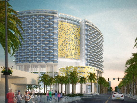 A rendering of the Miami Beach Convention Center project