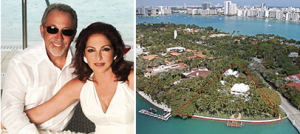 Emilio and Gloria Estefan, and 1 Star Island Drive