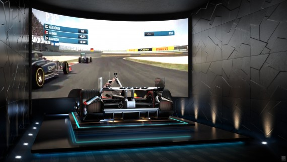 Rendering of the Formula 1 simulator