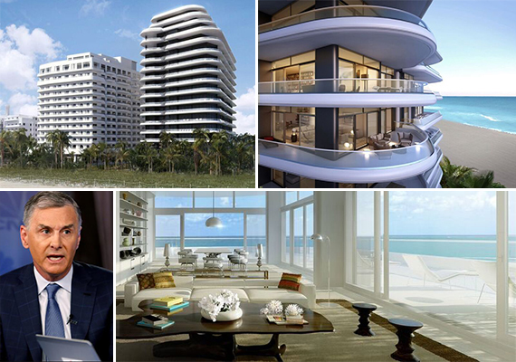 James Dinan (Credit: Forbes) and renderings of Faena House